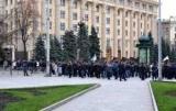 Бывшие сотрудники полиции перекрыли главную улицу в Харькове