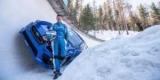 Зрелище на льду: заряженный Subaru промчался по трассе для бобслея (Видео)